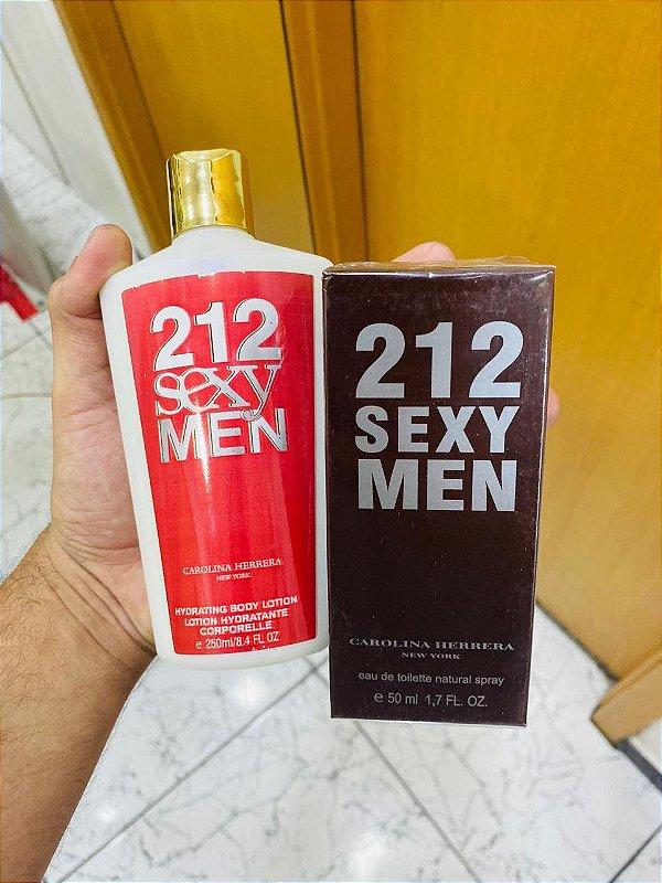 Kit Perfume e Hidratante 212 Sexy Men