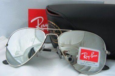 Óculos RB Aviador Prata Espelhado