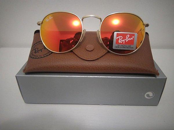 Óculos RB Round  Vermelho Espelhado