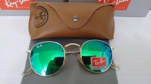 Óculos RB Round Verde Espelhado