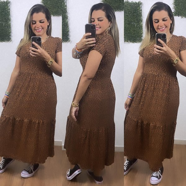 Vestido Estampado Animal Print Mandy