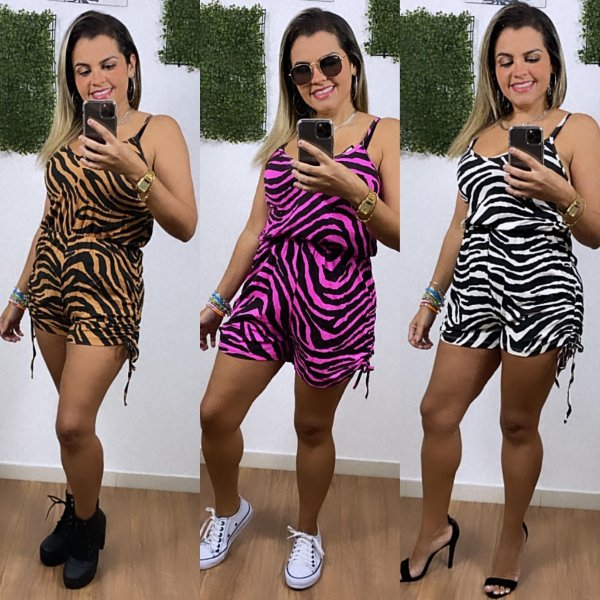 Macaquinho Estampado Animal Print Jane