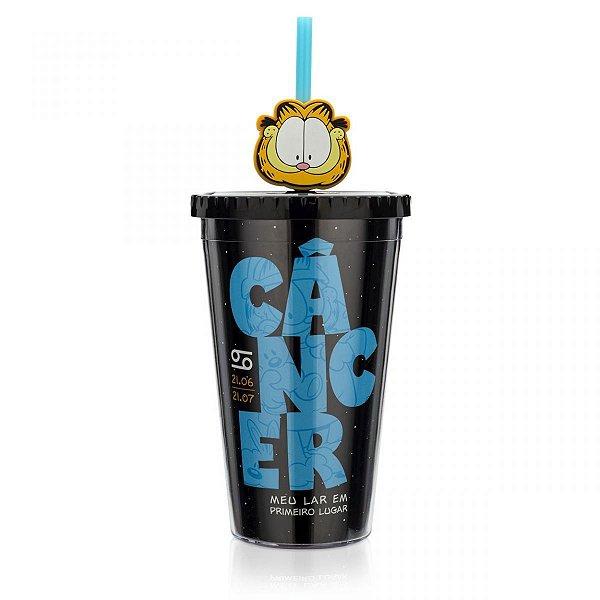 Copo com Pingente Garfield Câncer