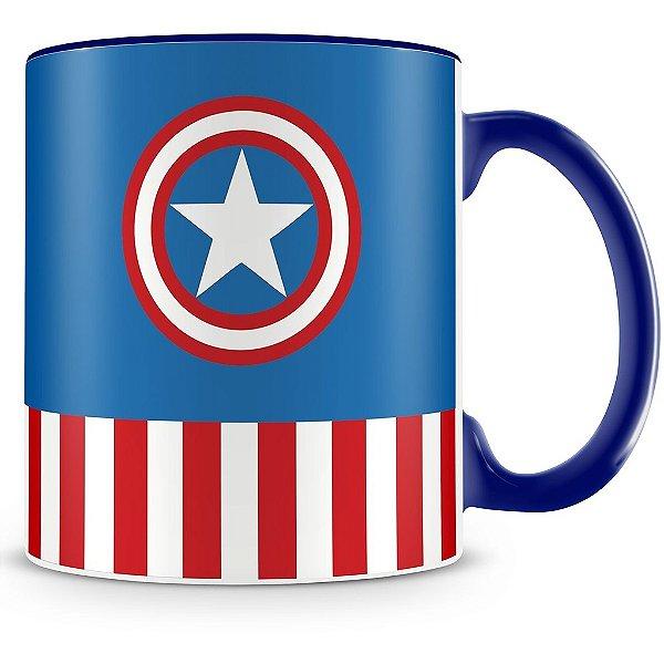 Caneca Personalizada Porcelana Capitão América