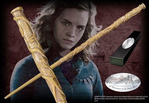 Réplica Oficial e Original Varinha Hermione Granger na caixa simples por Noble Collection