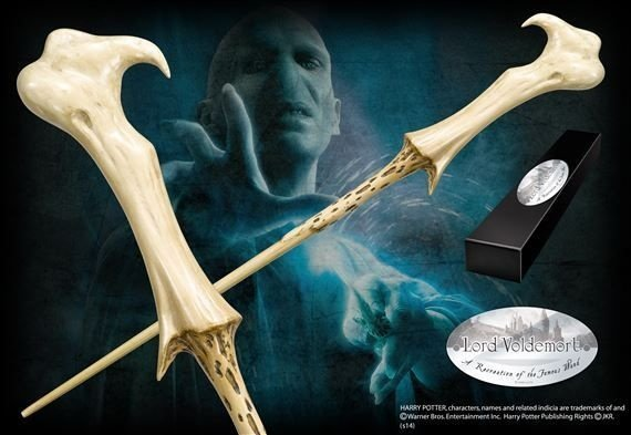 Réplica Oficial e Original Varinha de Lord Voldemort na caixa simples por Noble Collection