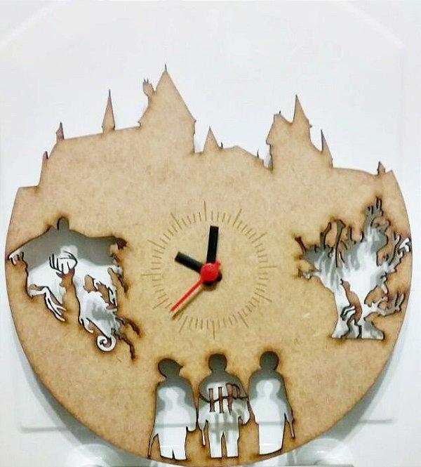 Relógio de parede tema Harry Potter