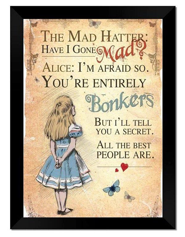 Conjunto com 5 Quadros Alice no Pais da Maravilha