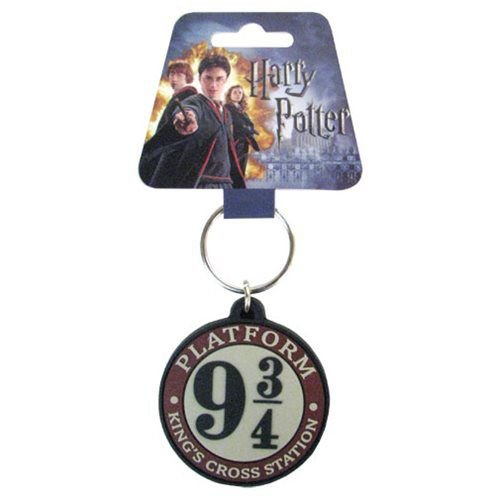 Chaveiro - Plataforma 9 3/4 emborrachado Harry Potter Importado