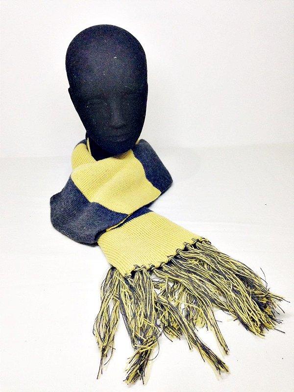 Cachecol Amarelo e Cinza