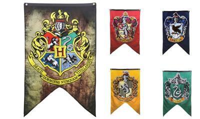 Bandeira Casas de Hogwarts