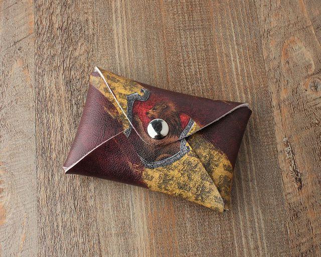 Carteirinha para dinheiro e moedas Casas de Hogwarts
