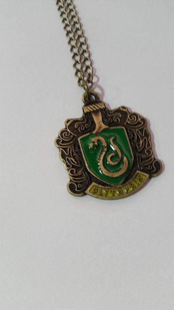 Colar Harry Potter Sonserina Bronze