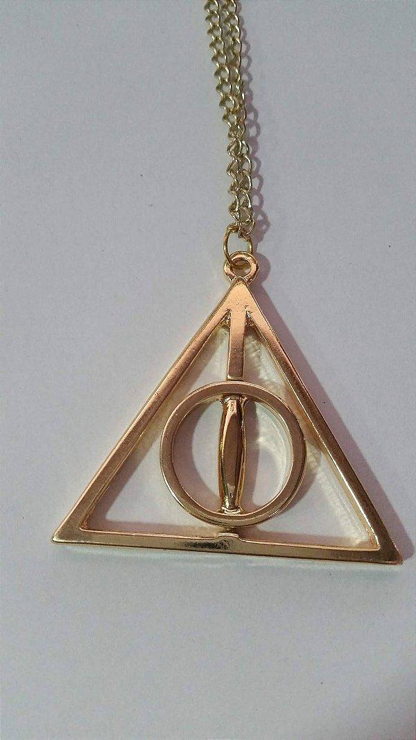 Colar Harry Potter Reliquias da Morte Dourado