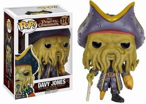 Funko Piratas do Caribe - Davy Jones Pop 174 (proteção plastica da caixa amassada)
