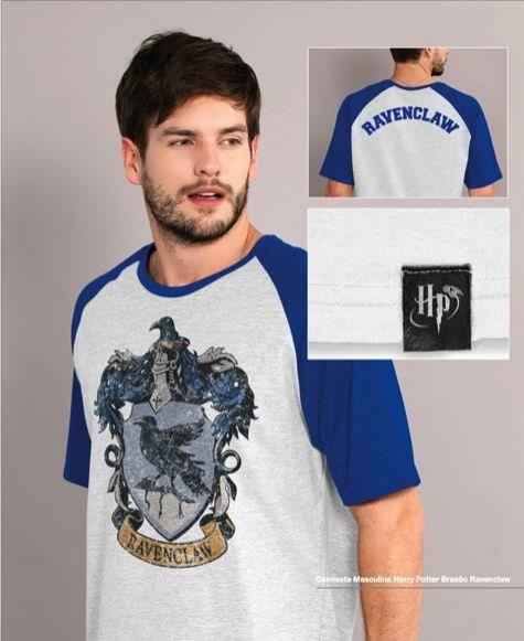Camiseta Corvinal (camiseta fundo cinza mesclado e manga azul)