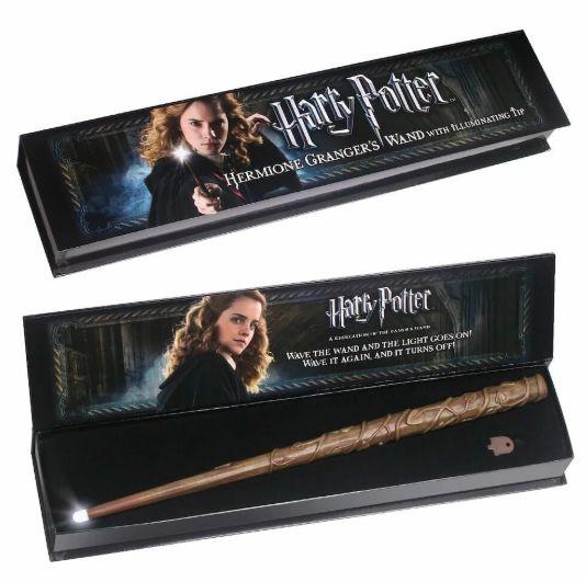 Réplica Oficial e Original Varinha Hermione que acende (illuminating wand) por Noble collection