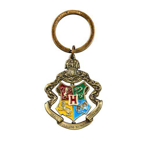 Chaveiro Brasão de Hogwarts Spinning Oficial Harry Potter