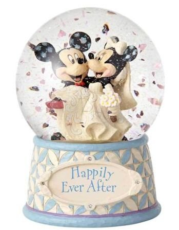 Globo de Neve Casamento Mickey & Minnie Disney Traditions por Jim Shore