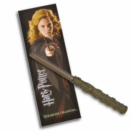 Caneta Original Varinha de Hermione e marcador de livro
