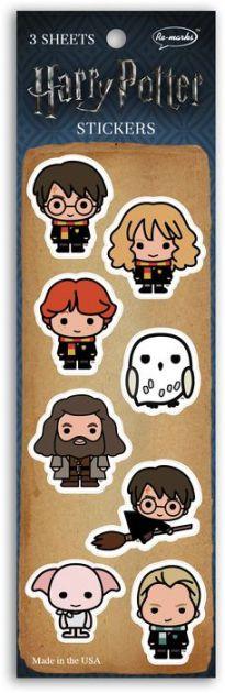 Adesivos Harry Potter Chibi Collection - Pacote com 3 Cartelas com 8 imagens