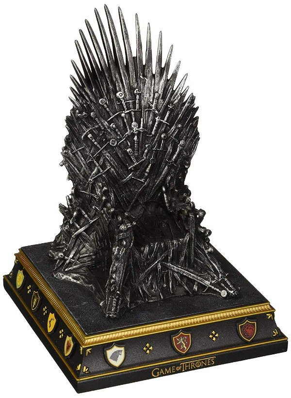 Game of Thrones Iron Throne Bookend - Terminador de Livros Trono de Ferro