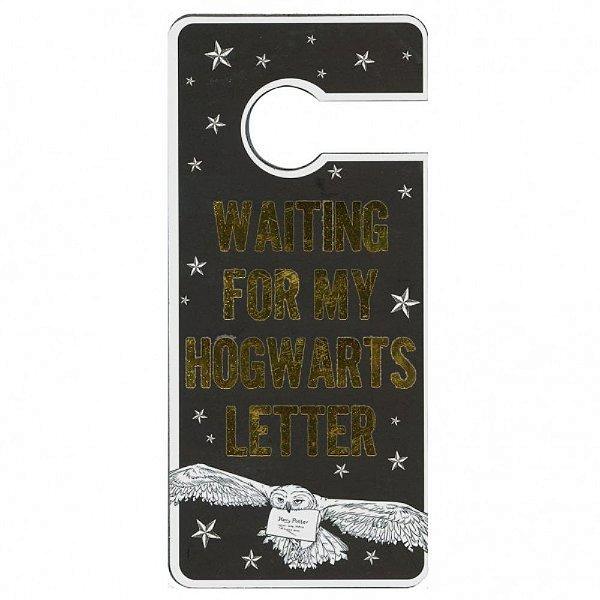 Aviso Para Porta Waiting For My Hogwarts Letter - Harry Potter
