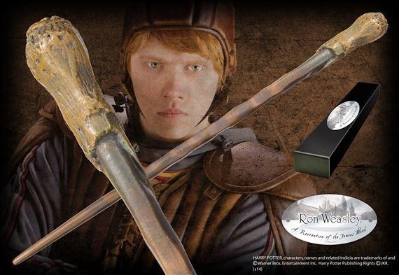 Réplica Oficial e Original da Varinha Rony Weasley na caixa simples por Noble Collection