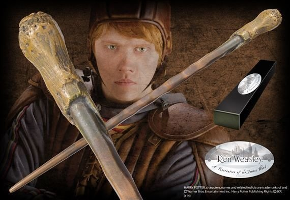 Varinha Rony Weasley Original Noble Caixa Simples