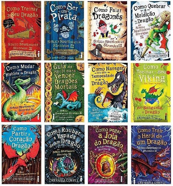Kit 12 Livros - Coleção Completa Como Treinar o Seu Dragão