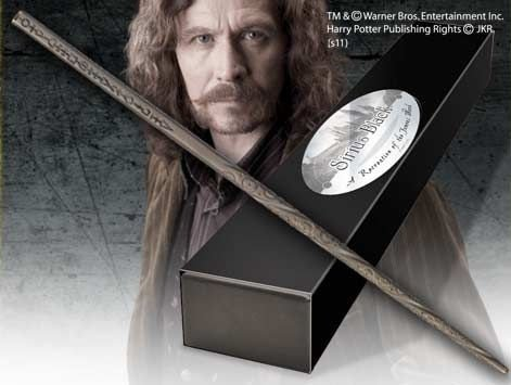 Réplica Oficial e Original Varinha Sirius Black na caixa simples por Noble Collection
