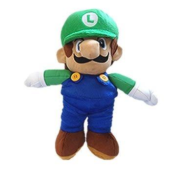 Pelúcia Luigi de 30cm do Super Mario Bros