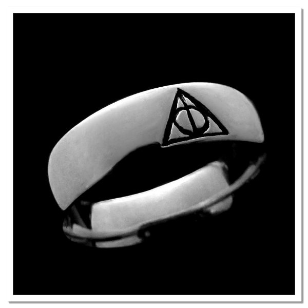 Aliança Harry Potter Relíquias em Prata 925