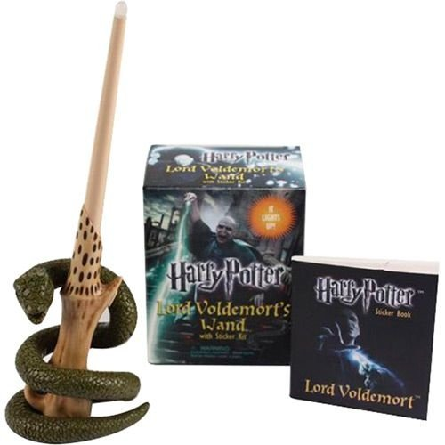 Kit Varinha Voldemort brinquedo e adesivos