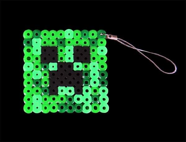 Chaveiro Creeper do Minecraft em feltro
