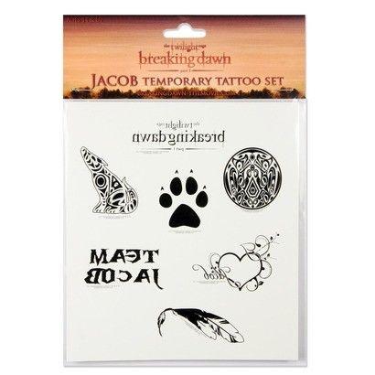 Conjunto com 7 Tatuagens temporárias Twilight / Crepúsculo Jacob