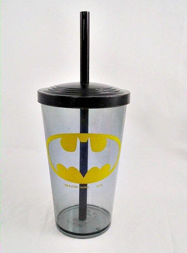 Copo com Canudo Batman