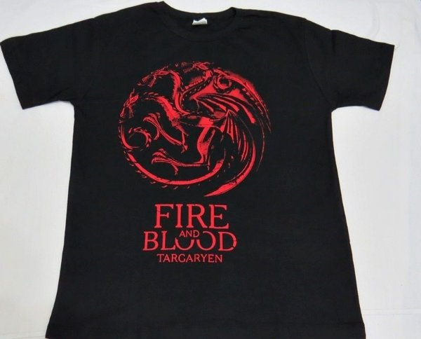 Camiseta Unissex Game of Thrones Brasão Targaryen