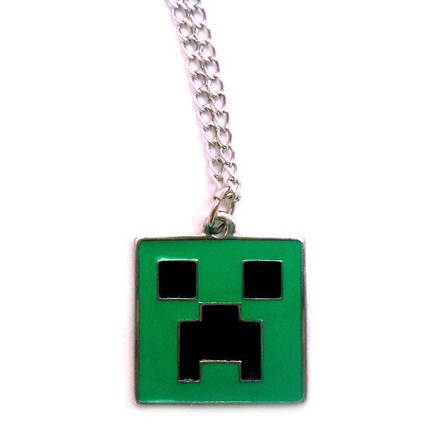 Colar Minecraft Pingente Creeper