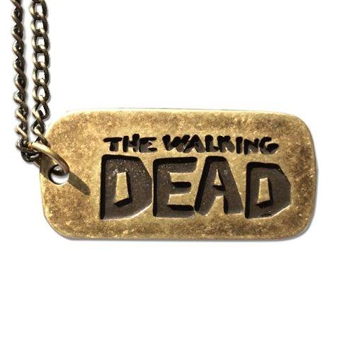 Pingente Placa Walking Dead (Acompanha colar em aço)