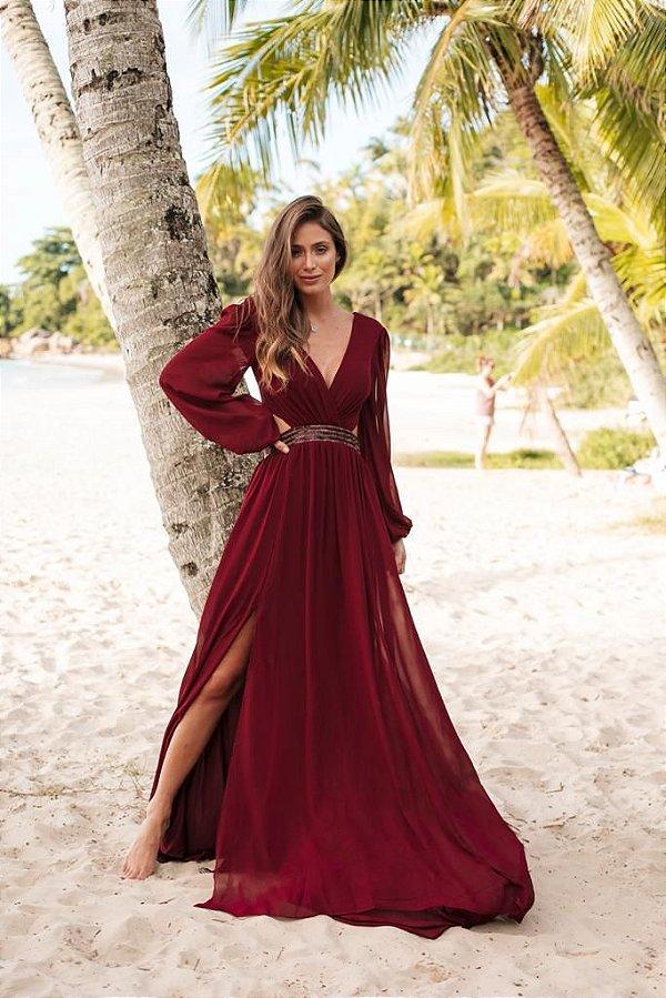 Vestido Hannah Marsala