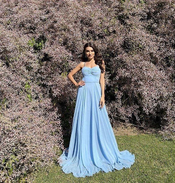 Vestido Aurea azul
