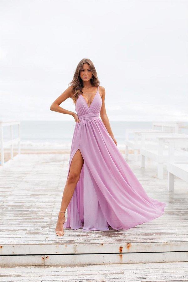 Vestido Carol Lilás