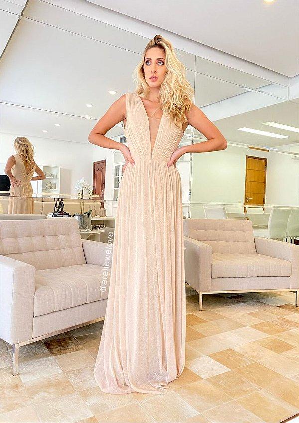 Vestido Carolina Dourado