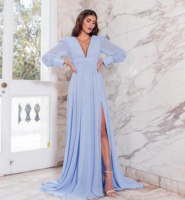 Vestido Elyne Azul