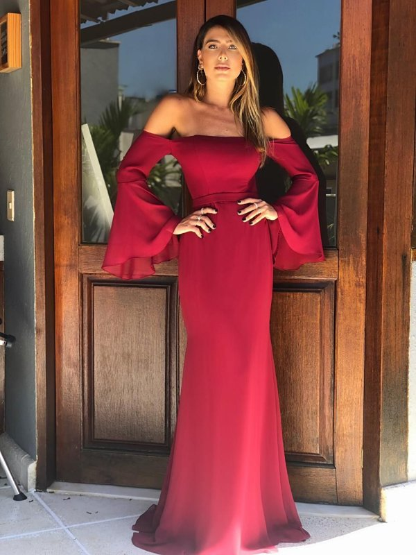 vestido maria marsala