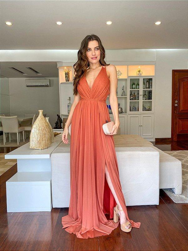 Vestido Grécia Terracota