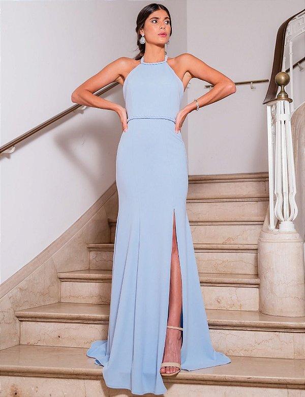vestido isadora azul