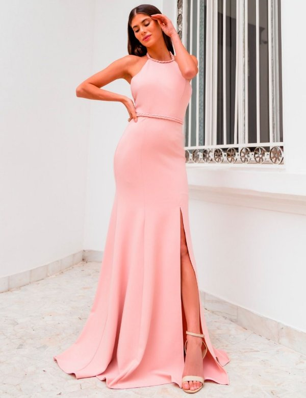 vestido isadora rosa