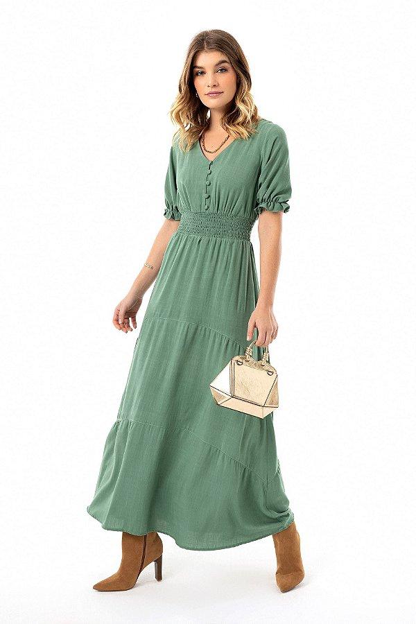 Vestido Longo Floresça Ref.: 100113 - Vinho